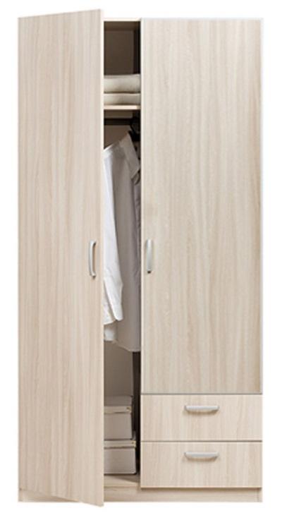 Элементы мебели : эко 5.13 шкаф 2 дверный с ящиками без зерк.