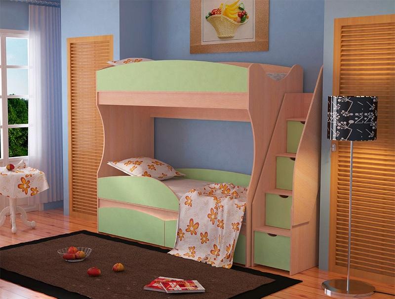 кровать 2 х ярусная детская фото